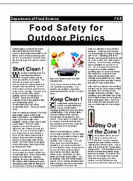 Food Safety for Outdoor Picnics