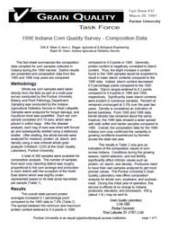 1996 Indiana Corn Quality Survey: Composition Data