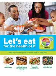 MyPlate: Let's Eat for the Health of It (25/pkg)