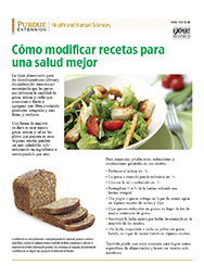 Altering Recipes for Better Health (Spanish)