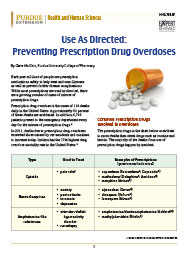 Use as Directed: Preventing Prescription Drug Overdoses