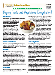 Let's Preserve: Drying Fruits and Vegetables (Dehydration)