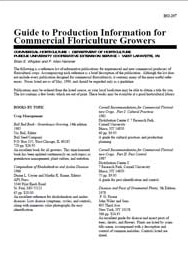 Guide to Production Information for Commercial Floriculture Growers