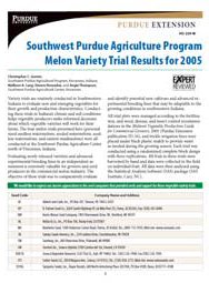 Southwest Purdue Agriculture Program Melon Variety Trial Results for 2005