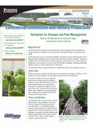 Commercial Greenhouse and Nursery Production: Sanitation for Disease and Pest Management
