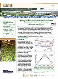 Commercial Greenhouse and Nursery Production: Managing Photoperiod in the Greenhouse