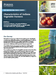 Fruit and Vegetable Farmer Surveys: Characteristics of Indiana Vegetable Farming Operations