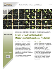 Greenhouse and Indoor Production of Horticultural Crops: Details of Electrical Conductivity Measurements in Greenhouse Production