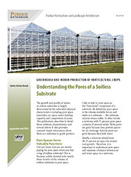 Greenhouse and Indoor Production of Horticultural Crops: Understanding the Pores of a Soilless Substrate
