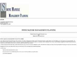 Swine Manure Management Planning
