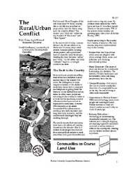 The Rural/Urban Conflict