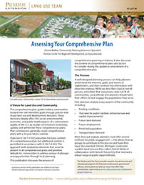 Land Use: Assessing Your Comprehensive Plan