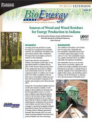 Sources of Wood and Wood Residues for Energy Production in Indiana