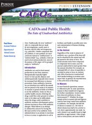 CAFOs and Public Health: The Fate of Unabsorbed Antibiotics