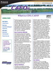 What is a CFO, CAFO?