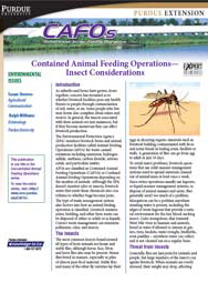 Contained Animal Feeding Operations - Insect Considerations