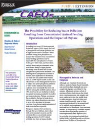 The Possibility for Reducing Water Pollution Resulting from Concentrated Animal Feeding Operations-Impact of Phytase