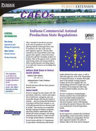 Indiana Commercial Animal Production State Regulations