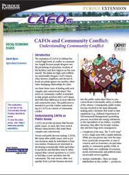 CAFOs and Community Conflict: Understanding Community Conflict