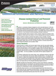 Commercial Greenhouse Production: Disease-resistant Annual and Perennial Production