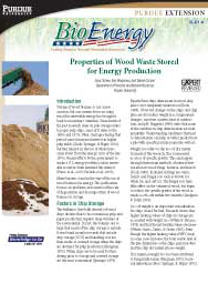 Properties of Wood Waste Stored for Energy Production