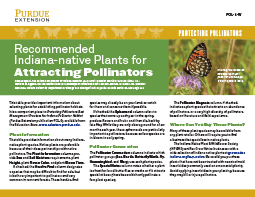 Protecting Pollinators: Recommended Indiana-native Plants for Protecting Pollinators