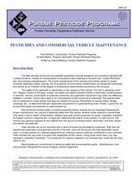 Pesticides and Commercial Vehicle Maintenance