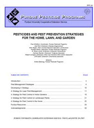 Pesticides and Pest Prevention Strategies for the Home, Lawn and Garden
