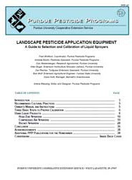 Landscape Pesticide Application Equipment: A Guide to Selection and Calibration of Liquid Sprayers