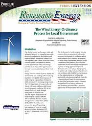The Wind Energy Ordinance Process for Local Government