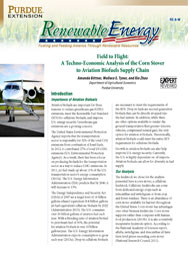 Field to Flight: A Techno-Economic Analysis of the Corn Stover to Aviation Biofuels Supply Chain