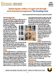 Enhancing the welfare of cage cats through environmental management — the housing room