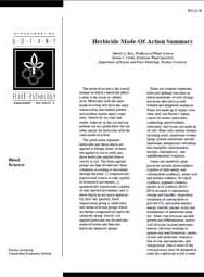Herbicide Mode-of-Action Summary