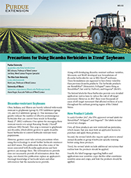 Precautions for Using Dicamba Herbicides in Xtend&reg Soybeans